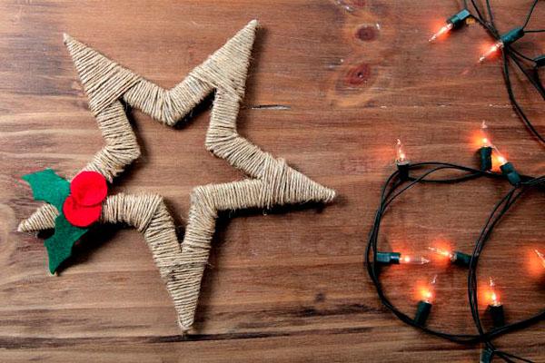Новогодние игрушки звезда своими руками